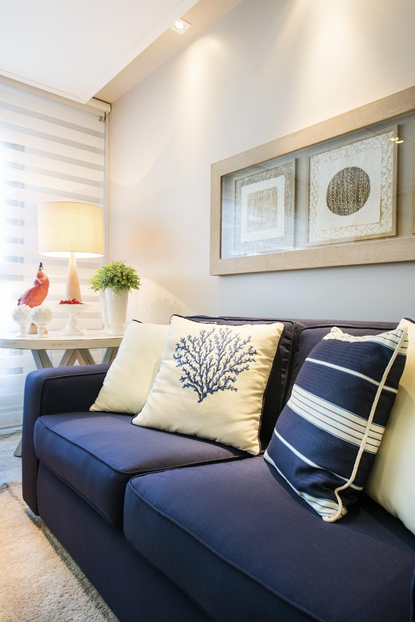 Almofadas Para Sala De Tv ~ Almofadas de corais e listras